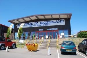 Indgangen til Diggerland i Kent