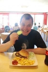 Burgermenu i Diggerland