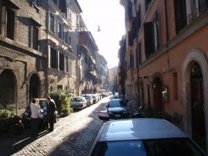 Billede af gaden hvor hostellet findes