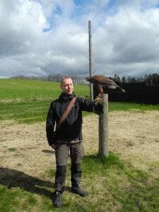 Rune møder fuglen for første gang