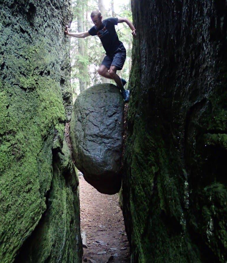 Boulder i Borrås Skåra